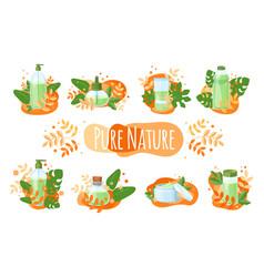 natural cosmetics organic vector image
