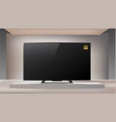 next generation smart led 4k tv room vector image