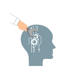 nlp or neuro-linguistic programming concept open vector image