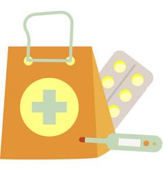 Pharmacy icon drugstore pill on white vector