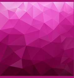 Polygonal square background hot pink magenta vector