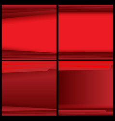 red background with light and shadow vector image