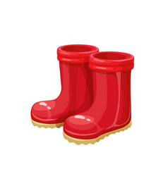 red rubber garden boots vector image