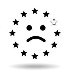 sad smiley face made of the european union flag vector image