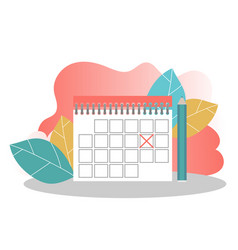 schedule management business planning landing vector image