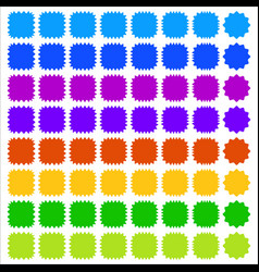 Set of badge button backgrounds in more colors vector