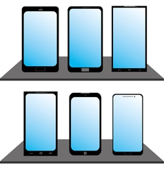 Set of Mobile Phones vector image