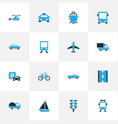Shipment colorful icons set collection of cab vector