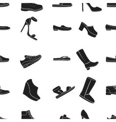 Shoes pattern icons in black style Big collection vector