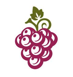 Simple grape icon vector