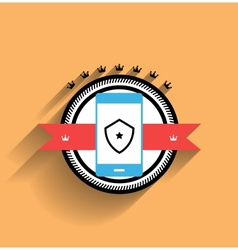 smartphone icon flat design vector image