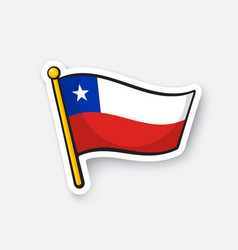 Sticker national flag chile vector