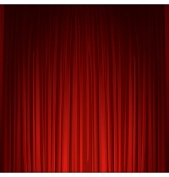Theater stage with red curtain vector