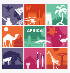 traditional symbols of africa vector image