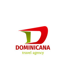 Travel agency letter d icon vector