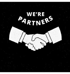 Two business partners handshake vector