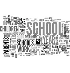 When schools behave badly text word cloud concept vector