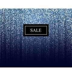 winter particle sale background vector image