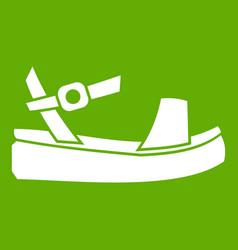 women sandale icon green vector image