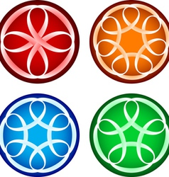 Abstract round forms vector image