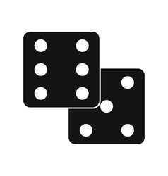 Dice black simple icon vector image