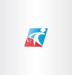 doctor medic man logo icon vector image vector image