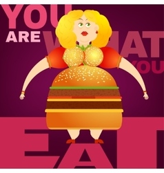 Beautiful Obesity Concept vector image