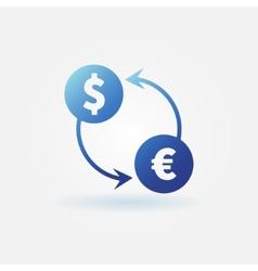 Exchange blue icon vector image vector image