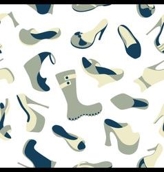 Footwear seamless pattern vector image