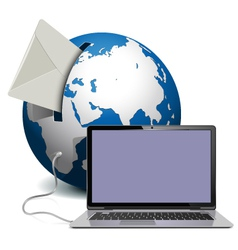 Globe with Notebook vector image