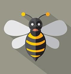 Modern Flat Design Bee Icon vector image