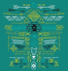 Navajo Aztec Tribal ethnic ornament vector image