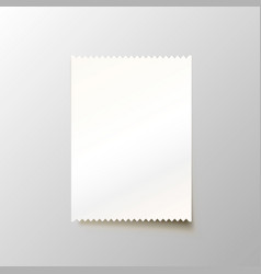 paper blank cheque on the white background vector image