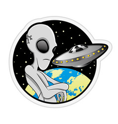 sign of space aliens vector image vector image