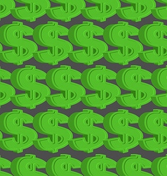 Dollar seamless pattern Green Dollar background vector image vector image