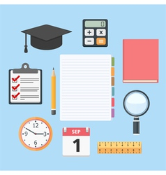 Education Objects vector image vector image