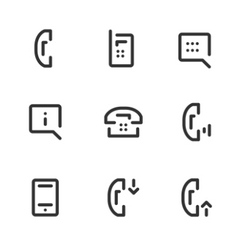 call service icons vector image vector image