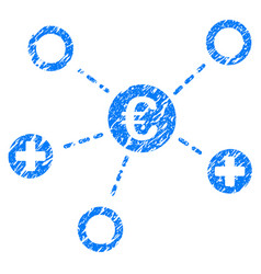 euro medical links grunge icon vector image