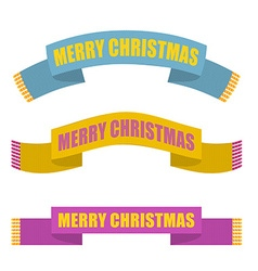 Merry Christmas Winter scarf Warm accessory vector image vector image