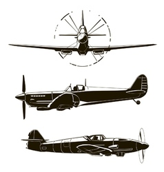 second world war fighters vector image