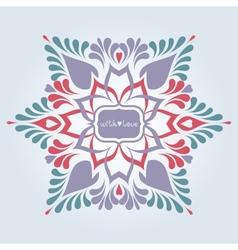 Soft ornate background vector image