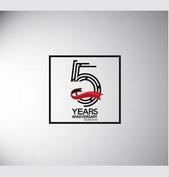 5 years anniversary logotype flat style vector