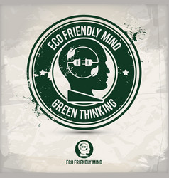 alternative eco friendly mind stamp vector image