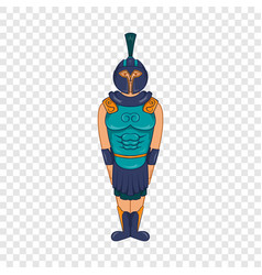 ancient egyptian warrior icon cartoon style vector image