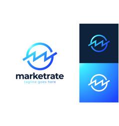 Bank or finance organization letter m or w logo vector