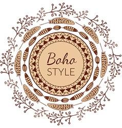 Boho Style Frame vector
