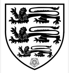 british three lions crest vector image