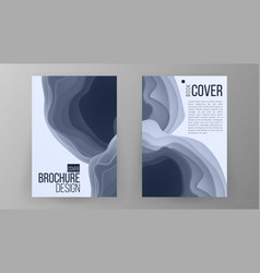 brochure design magazine poster annual vector image