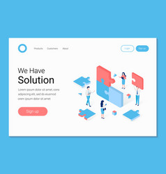 Business solution in partnership concept vector