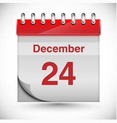Calendar for chritmas vector